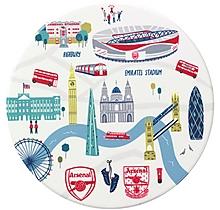 Arsenal London Map Ceramic Coaster