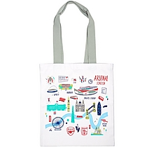 Arsenal London Map Canvas Bag