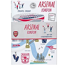 Arsenal London Map Set of 3 A6 Notebooks