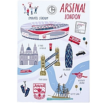 Arsenal London Map A5 Notebook