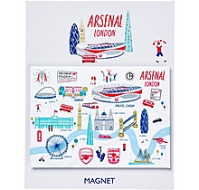 Arsenal London Map Magnet