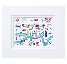 Arsenal London Map Print