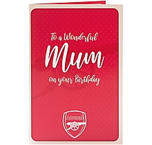 Arsenal Happy Birthday Mum Card