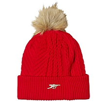 Arsenal Essentials Womens Cannon Cable Knit Bobble Hat