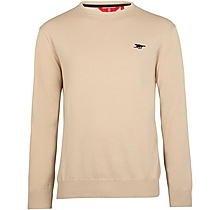 Arsenal Essentials Ecru Crew Cotton Jumper