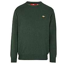 Arsenal Essentials Khaki Crew Cotton Jumper