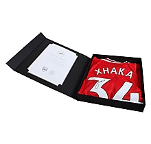 19/20 Xhaka Boxed Signed Shirt