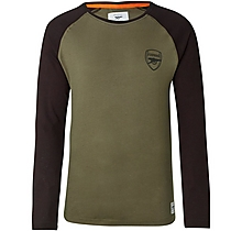 Arsenal Since 1886 LS Raglan T-Shirt Khaki