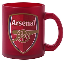 Arsenal Red Clear Glass Mug