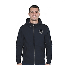 Arsenal Essentials Zip Hoody Navy