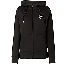 Arsenal Womens Essentials Zip Hoody Black