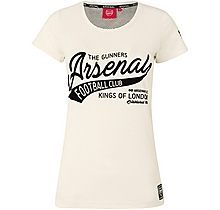 Arsenal Since 1886 Womens Cream T-Shirt