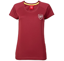 Arsenal Womens Leisure Classic Red T-Shirt