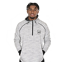 Arsenal Leisure 1/4 Zip Hoody Grey