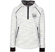 Arsenal Womens Leisure 1/4 Zip Hoody Grey