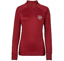 Arsenal Womens Leisure Classic Red 1/4 Zip Top