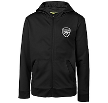 Arsenal Kids Leisure Tricot Hoody Black (4-13yrs)