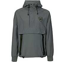 Arsenal Leisure Grey 1/4 Zip Windbreaker