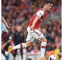 Arsenal Match Worn Shirt V Aston Villa - XHAKA