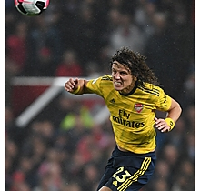 Arsenal Match Worn Shirt v Manchester Utd - DAVID LUIZ