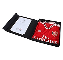 Arsenal Match Worn Shirt v Standard Liege - MUSTAFI