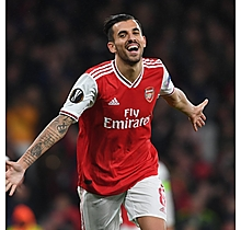 Arsenal Match Worn Shirt v Standard Liege - D.CEBALLOS