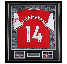 Aubameyang 19/20 Framed Signed Shirt