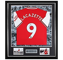 Lacazette 19/20 Framed Signed Shirt