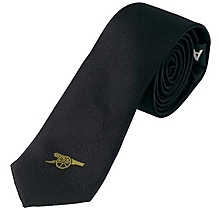 Arsenal Black Skinny Tie