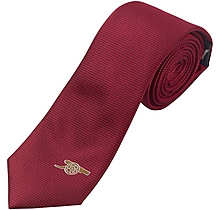 Arsenal Red Skinny Tie