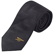 Arsenal Black Printed Tie