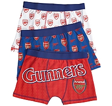 Arsenal Kids 3 Pack Patterned Boxers