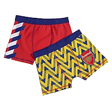 Arsenal Kids 2 Pack Retro Boxer Shorts