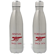 Arsenal Personalised Cannon Design Water Bottle