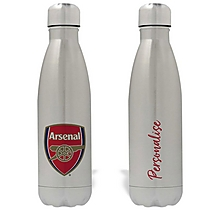 Arsenal Personalised Crest Design Water Bottle