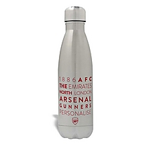 Arsenal Personalised 1886 AFC Design Water Bottle