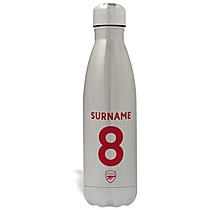Arsenal Personalised Name & Number Water Bottle