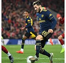 Arsenal Match Worn Shirt V Liverpool - KOLASINAC