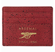 Arsenal Slim Red Cork Card Holder