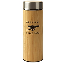 Arsenal Bamboo Thermos Flask