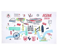 Arsenal London Map Tea Towel