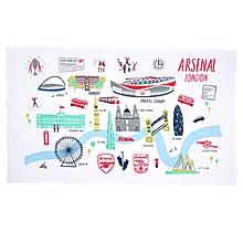 Arsenal London Map Tea Towel