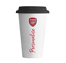 Arsenal Porcelain Personalised Crest Coffee Cup