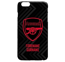 Arsenal Personalised Crest Black Phone Case