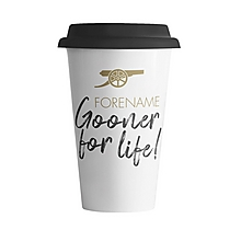 Arsenal Gooner For Life Personalised Coffee Cup