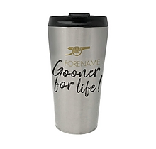 Arsenal Gooner For Life Personalised Travel Mug