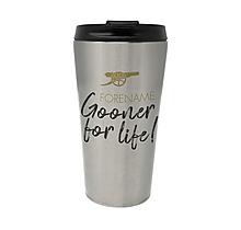 Arsenal Gooner For Life Personalised Travel Mug