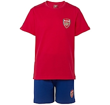 Arsenal Kids Shorts Crest Pyjamas