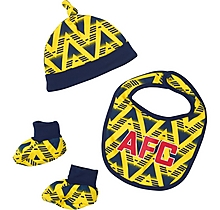 Arsenal Baby Bruised Banana Hat Bib Bootee Set