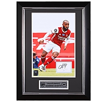 Lacazette 20/21 Framed Signed Print